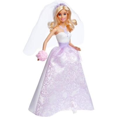 Sans Marque Poupée Barbie : Robe de mariage