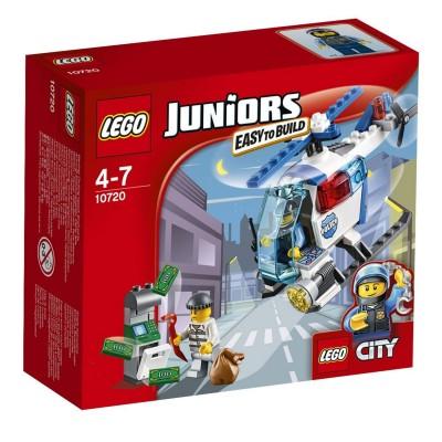 Lego ® lego 10720 juniors : la poursuite en hélicoptère de police