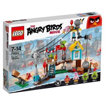 LEGO ® Lego 75824 Angry Birds : La démolition de Cochon Ville
