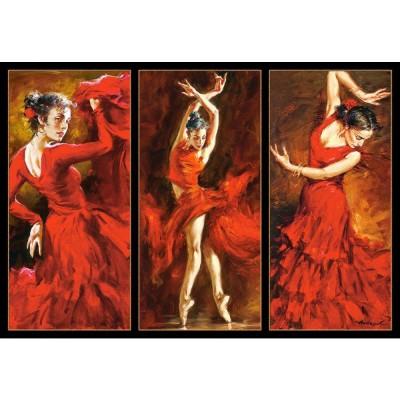 Castorland Puzzle 1000 pièces : danseuse rouge