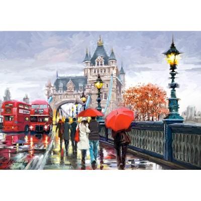 Castorland Puzzle 1000 pièces : tower bridge sous la pluie