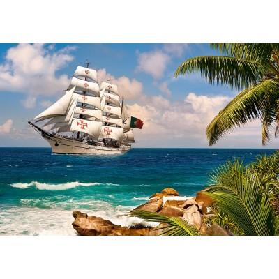 Castorland Puzzle 1000 pièces : voilier sous les tropiques