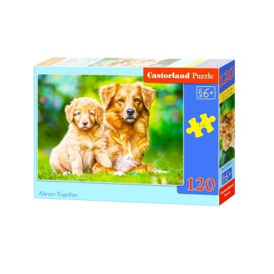 Castorland Puzzle 120 pièces : duo de chiens