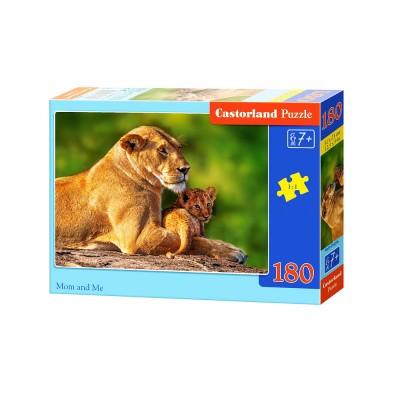 Castorland Puzzle 30 pièces : maman lionne et son petit