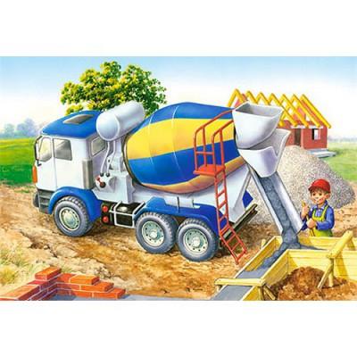 Puzzle 24 pi ces mini puzzle camion toupie castorland - Camion toupie playmobil ...