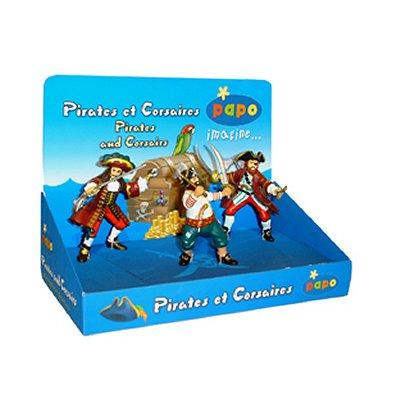 Papo Figurine Pirates et corsairess Boîte présentoir 3 Figurines