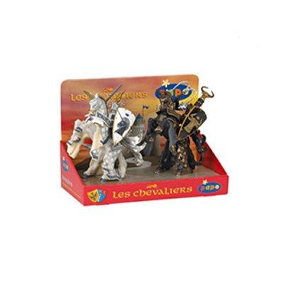 Papo Figurines Chevaliers : Boîte présentoir 4 figurines : Maîtres des armes
