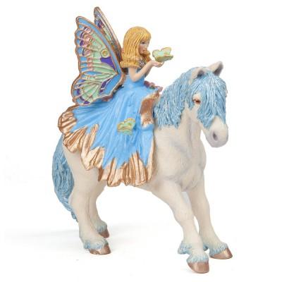 Papo Figurine Poney féérique bleu (sans Elfe : Enfant bleu)