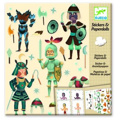 Djeco Stickers et paper dolls : les chevaliers