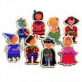 Djeco Puzzle 8 x 3 pièces en bois - Enfants déguisés