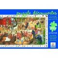 Djeco Puzzle 200 pièces - Poster et jeu d'observation : Equitation