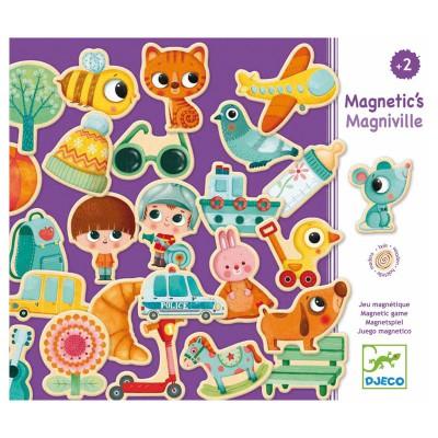 Djeco Personnages et objets magnétiques : Magniville. Personnages et objets magnétiques : Magniville