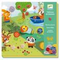 Djeco Tableaux de boutons : Petite vie dans les bois