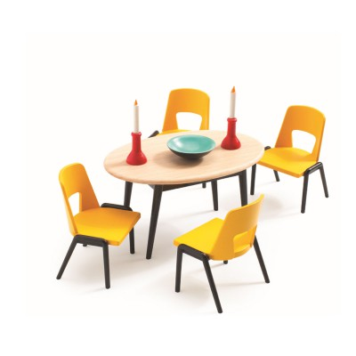 Djeco Accessoire maison de poupées : la salle à manger