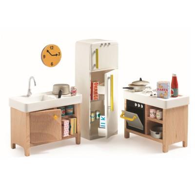 accessoire maison de poup es la cuisine djeco magasin de jouets pour enfants. Black Bedroom Furniture Sets. Home Design Ideas