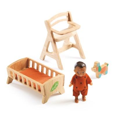 Djeco Accessoires pour maison de poupées : bébé zimmer