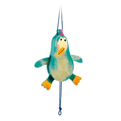 Djeco Pantin en bois : pingouin jojo