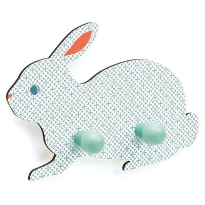Djeco Patère en bois : lapin
