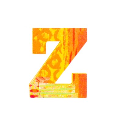 Djeco Lettre décorative en bois Paon : Z