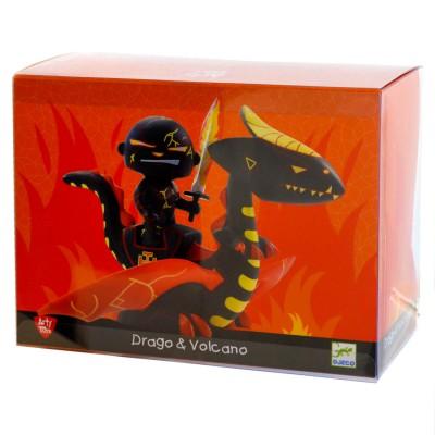 Djeco Figurine Arty Toys : Les chevaliers : Drago & Volcano