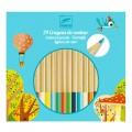Djeco Crayons de couleur : 24 crayons