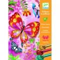 Djeco Tableaux à pailleter : Papillons à paillettes