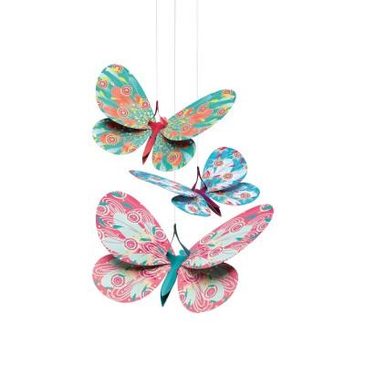 Djeco Mobiles en papier : Papillons paillettes
