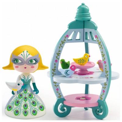 Djeco Figurine Arty Toys : Les princesses : Colomba et Ze Birdhouse