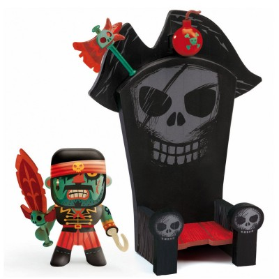 Djeco Figurine Arty Toys : Les pirates : Kyle et Ze throne