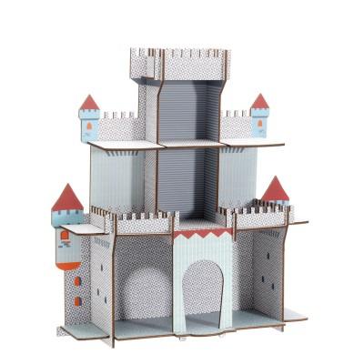 Djeco Etagère en bois : la citadelle du chevalier