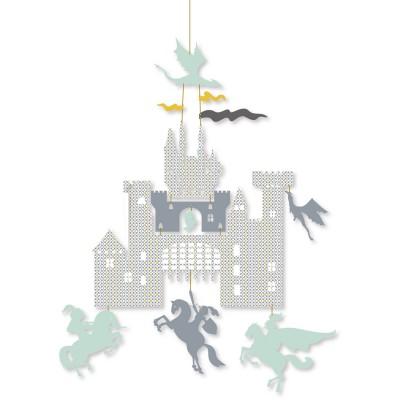 Djeco Mini mobile : château et dragons