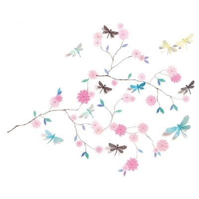 Djeco Stickers muraux 3d : arbre aux libellules