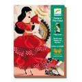 Djeco Set créatif couture : Cartes à frou-frous : Flamenco