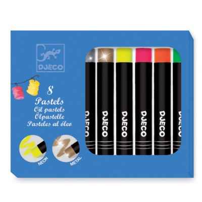 Djeco 8 pastels à l'huile (couleurs pop)
