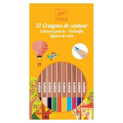 Djeco 12 crayons de couleurs