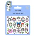 Djeco Mini-stickers : Portraits