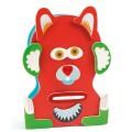 Djeco Jeu magnétique en bois : Inzebox Monstro
