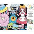 Djeco Frise velours à colorier : Sweet parade