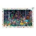 Djeco Puzzle 100 pièces : La forêt enchantée