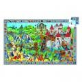 Djeco Puzzle 54 pièces - Poster et jeu d'observation : Chevaliers