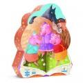 Djeco Puzzle silhouette - 24 pièces - Les trois petits cochons