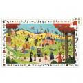 Djeco Puzzle 54 pièces - Poster et jeu d'observation : Les contes