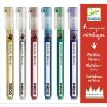 Djeco Crayons 6 marqueurs métaliques