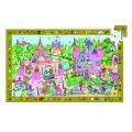 Djeco Puzzle 54 pièces - Poster et jeu d'observation : Princesse