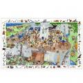 Djeco Puzzle 100 pièces - Poster et jeu d'observation : Château fort