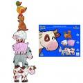 Djeco Puzzle 72 pièces - 6 puzzles : Pâquerette et ses amis