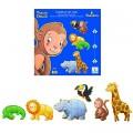 Djeco Puzzle 38 pièces - 6 puzzles : Ouistiti et ses amis