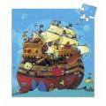 Djeco Puzzle 54 pièces - Silhouette : Bateau de Barberousse