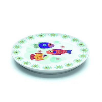 Djeco Assiette plate en porcelaine pain d'épices : 20.5 cm