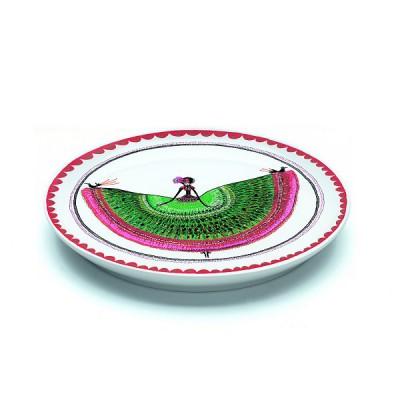 Djeco Assiette plate en porcelaine margarita : 20.5 cm